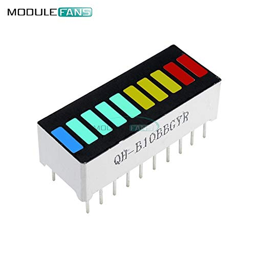 5PCS LED-Display-Modul 10 Segment Bargraph Light Display Module Bar Graph Ultra Bright rot gelb grün blau Farbe Multi-Color