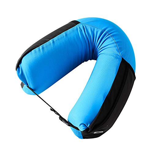 Blankspace Almohada en forma de U portátil de viaje de avión almohada cuello almohada cervical almohada en forma de U de algodón de memoria