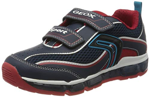 Geox Jungen J Android Boy C Sneaker, Blau (Navy/Red C0735), 30 EU