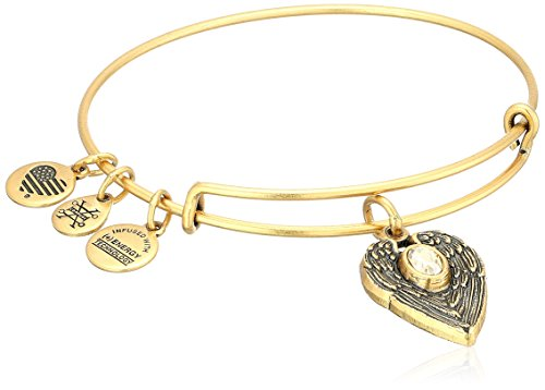 Alex and Ani 'Path of Symbols' Guardian Angel Expandable Wire Gold Bangle Charm Bracelet