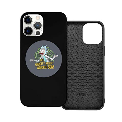 Case For I_Phone 12 Rick And Morty Phone Case Compatible With I_Phone 12 / I_Phone 12 Pro Shock Proof Anti Scratch Hard Cover Case