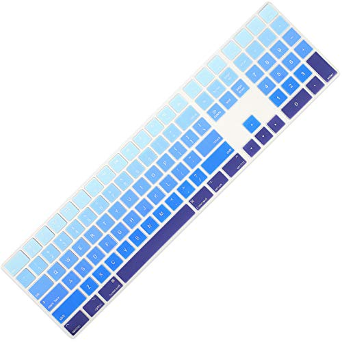 Allinside Ombre Blue Cover for Apple iMac Magic Keyboard with Numeric Keypad MQ052LL/A A1843 US Layout