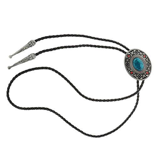 Joyería de Camisa Corbata Corbata Bola Occidental Azteca Indio Bolo Diseño Tótem Lazo Vaquero Rodeo