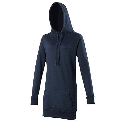Awdis - Sweatshirt Long à Capuche - Femme (XS) (Bleu Marine Profond)