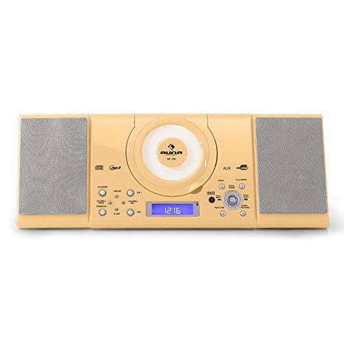 Auna MC-120 Minicadena - Equipo de música, Altavoces estéreo, Diseño Compacto, Compatible...