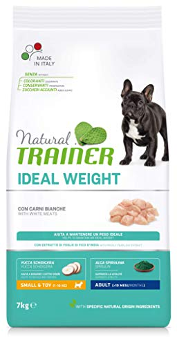 Natural Trainer Ideal Weight - Cibo per Cani Small&Toy Adult con Carni Bianche 7kg
