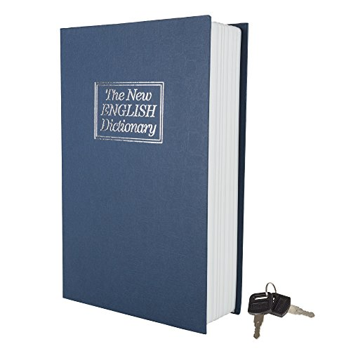 English Dictionary Faux Book Metal Safe