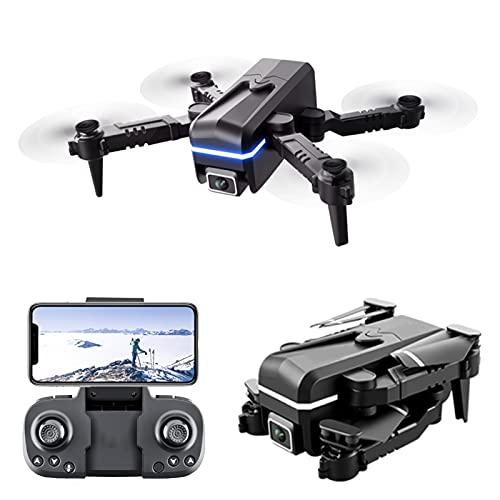 Lailuaxoa 2021 Nuovo Mini Drone con Fotocamera 4K, WiFi FPV Quadcopter Rc Pieghevole per Principianti Divertente Giocattolo Drone per Ragazzi e Ragazze Indoor Outdoor (3-Batterie)