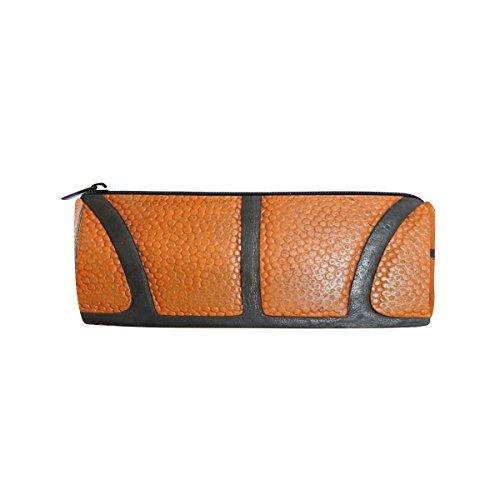 Orange Basketball Federmäppchen Stift Tasche Multifunktionale Stationery Tasche Reißverschluss Tasche von bennigiry, Student Reißverschluss Bleistift Inhaber Tasche Geschenk Travel Make-up Tasche