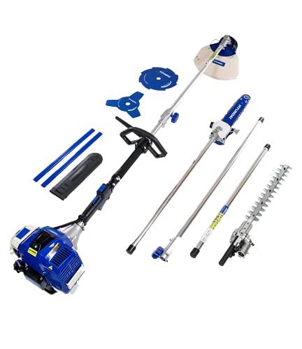 Hyundai HY-HYMT5080 Kit multifunción 4 en 1 jardinería, 1560 W, 0 V, Azul, 107x28x30 cm
