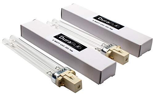 DuraBulb® Ersatz UV (Ultra Violet) Lampe für Teich UVC Filter & Klärer 5W 7W 9W 13W - Twin Pack 9W