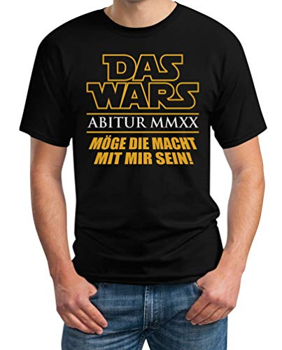 Abitur 2020 - Das Wars Abi Schulabschluss Geschenk Herren T-Shirt L Schwarz