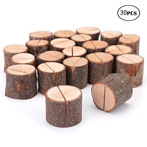 Tebery 30er Holz Holzsteg Kartenhalter Platzkarte Tischkartenhalter Namesschild Hochzeit