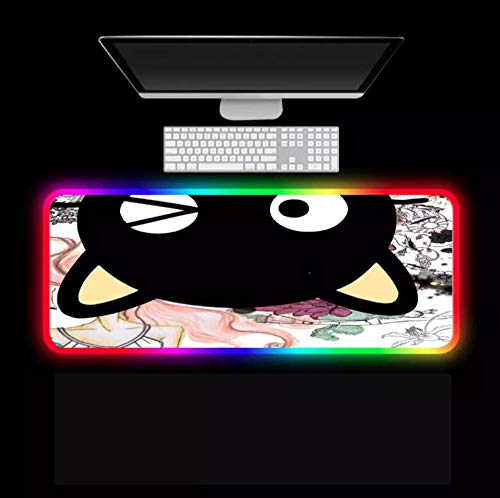 Mouse Pads Cute Cartoon Cat Hd Wallpaper RGB Mouse Pads Led Backlight Laptop Gaming Accessories Keyboard XXL Gaming Mouse Pad Desks (Size_5)500X1000X4Mm