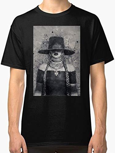 ビヨンセレモネード幾何学アートの新しいファッション夏 メンズTシャツブラックホワイトOネックコットンTシャツを印刷します,ブラック,M