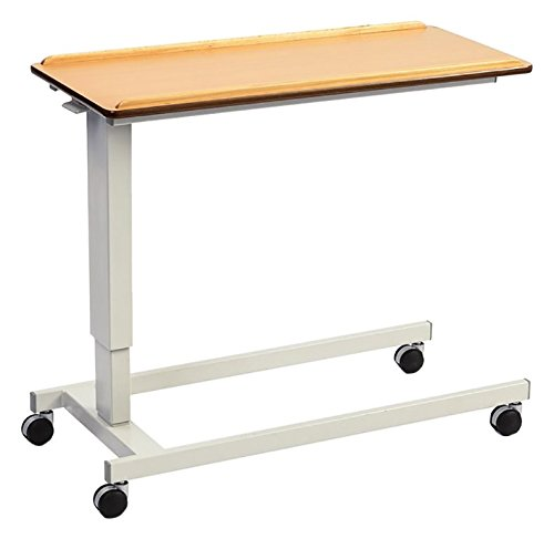 NRS Healthcare EasyLift Overbed / Over Chair Table Beech N43553 - Standard Base, Extra Low
