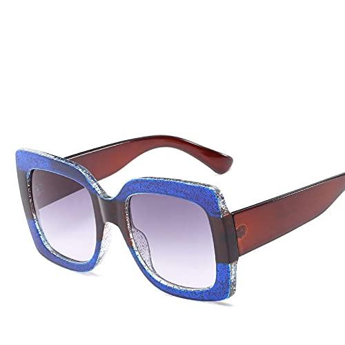 ShSnnwrl Único Gafas de Sol Sunglasses Nuevas Gafas De Sol De Montura Grande Vintage para Mujer, Hombre, Moda, Coloridas Gafas De