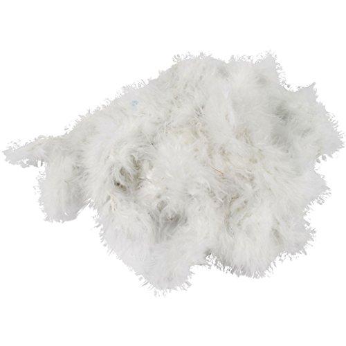 Boa de plumas, A: 20-30 mm, blanco, 10m