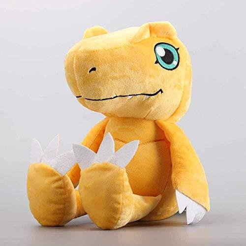 VGSD® Anime Digimon Puppe Agumon Plüsch Spielzeugpuppe, Kinder Geburtstagsgeschenk Schlafzimmer Dekoration Auto Dekoration 30Cm