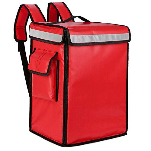 YuuHeeER 1 bolsa enfriadora de picnic de comida de 42 l con aislamiento térmico portátil pizza roja