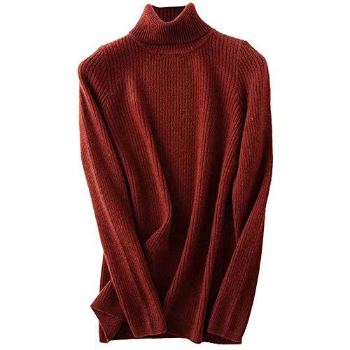 TAWXR 2020 Autunno Inverno Caldo Morbido Maglia Pullover Femme Ponticello Donne Maglione Cashmere Caramello M