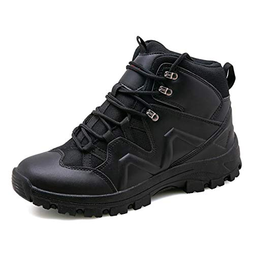 Eisrumu Unisex - Erwachsene Stiefel Herren Damen Militärstiefel Kampfstiefel rutschfest Einsatzstiefel Tactical Boots Schwarz 40 EU