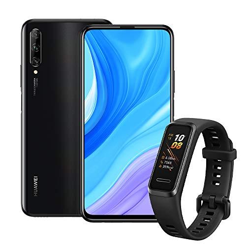 Huawei Y9s (Midnight Black, 6GB RAM, 128GB Storage) + Huawei Band 4