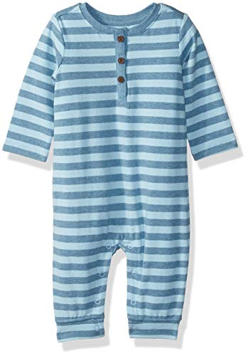 Gymboree Baby Boys Sleeve Long One-Piece, Blue Stripe, 3-6 Mo
