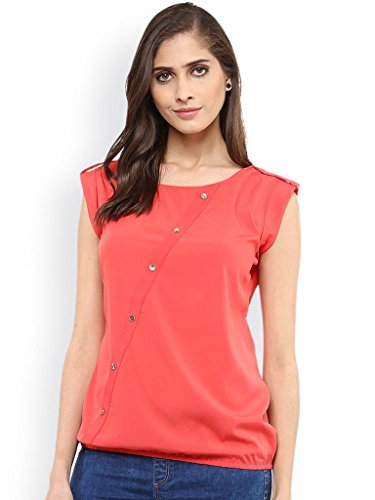 J B Fashion Women's Plain Regular Fit Top (D-14_Pink_Small)