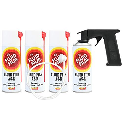 Fluid Film AS-R, 4x Sprühdose 400 ml plus Spraymaster