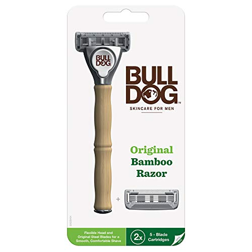 Bulldog Mens Skincare and Grooming Original Razors for Men With 2 Razor Blade Refills