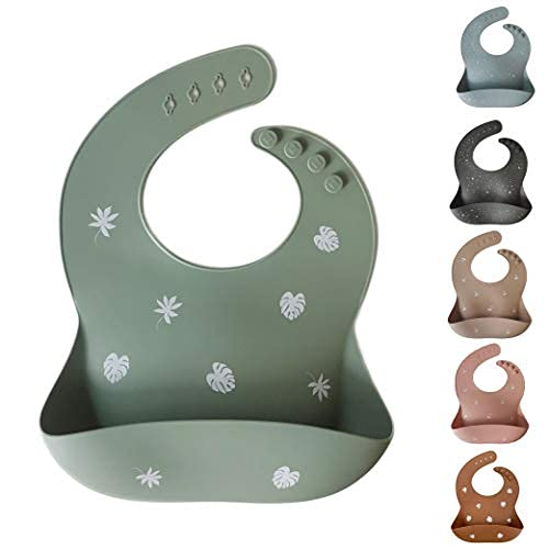 Unique for you Silikonlätzchen - Baby-Lätzchen mit Auffangschale - Robust, flexibel, wasserdicht & spülmaschinenfest - BPA-frei & babysicher - Verstellbare Größe, ab 6 Monate