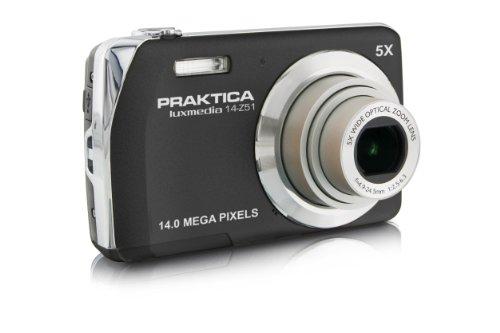 Praktica Luxmedia 14-Z51 Digitalkamera (14 Megapixel, 5-Fach Opt. /digitaler Zoom, 6,86 cm (2,7 Zoll) Display) schwarz