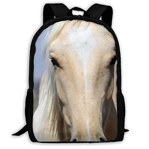 Zaini Casual Cavallo Bianco Zaino Bambini Unisex Zaino Da Scuola Classic Zaino Da Viaggio Impermeabile Zaino Scuola Per Uomini Donne, Ragazzi E Ragazze