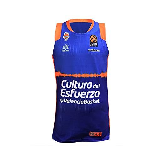 Valencia basket Camiseta de juego azul euroliga, Hombres, XXL