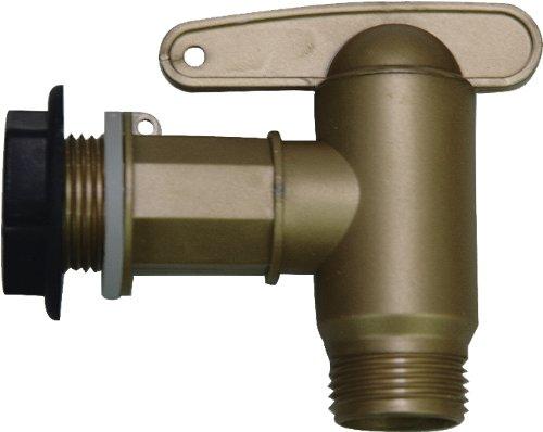 Garantia Aqua-Quick Kunststoffhahn-Set (Auslaufhahn), 4-teiliges Komplettset in Messingoptik - 504044