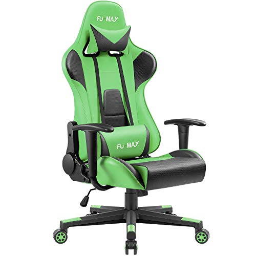 Furmax Gaming Office Chair Ergonomic High-Back Racing Style Adjustable Height Executive Computer Chair,PU Leather Swivel Desk Chair (Green)
