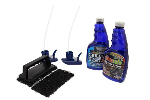 Bryson Industries Grill Cleaning Kit - BBQ Grid and Grill Grate Cleanser, Exterior Cleaner, and Scrubber by Citrusafe (16 oz Each)
