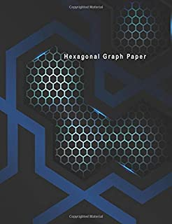 Hexagonal Graph Paper: Hexagon Paper (Small) 0.2 Inches Hexes Radius Honey comb paper, Organic Chemistry, Biochemistry, Science Notebooks, Composition ... Maps Grid Mats with Blue Hexagon Sport Theme