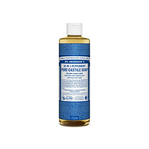 Dr Bronner's Savon liquide de Castille à la menthe poivrée 473ml