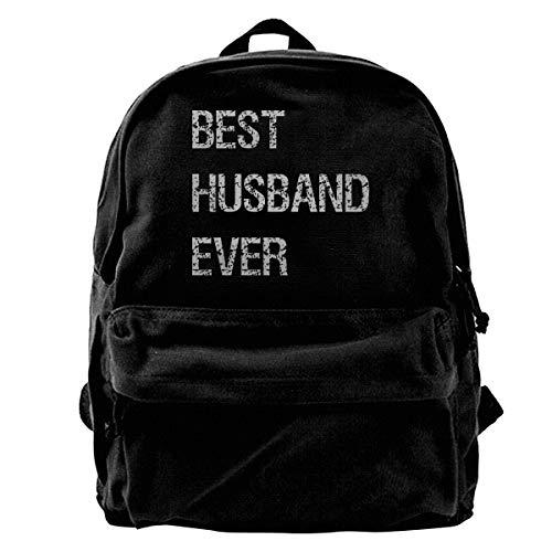 for Husband - Best Husband Ever Canvas Backpack School Laptop Bag for Women & Men Travel Bookbag