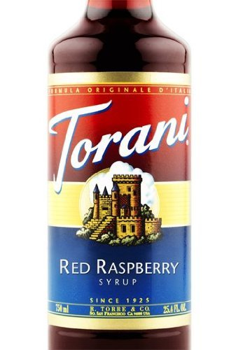 Torani Red Raspberry Syrup, Dairy Friendly 750mL
