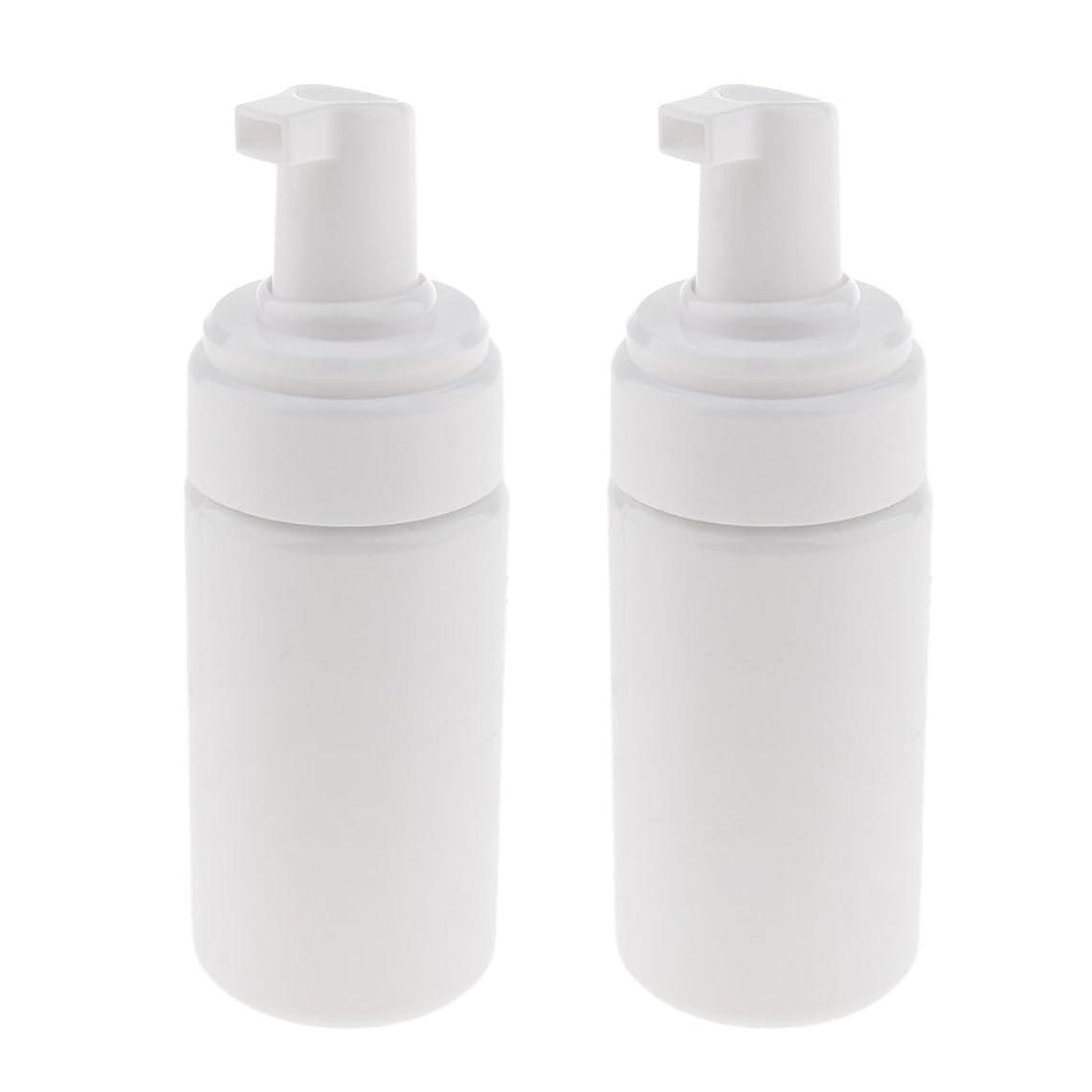 物語終わり追い払うPerfk 2個 フォームボトル ディスペンサー ソープボトル 石鹸ディスペンサー ポンプボトル 100ml 泡立て ボトル 発泡 3色選べる - 白