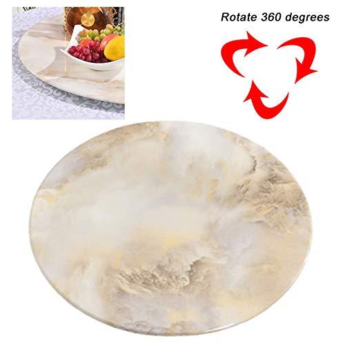 CDDQ Plato Giratorio de Cristal,Placa Giratoria,Redondo,para Mesa de Comedor,Lazy Susan,Vidrio Templado,Grueso 12mm,Base...