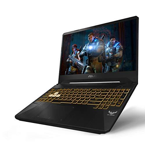 """ASUS TUF (2019) Gaming Laptop, 15.6"""" 120Hz FHD IPS-Type, AMD Ryzen 7 R7-3750H, GeForce GTX 1660 Ti, 16GB DDR4, 256GB PCIe SSD + 1TB HDD, Gigabit Wi-Fi 5, RGB KB, Windows 10 Home, TUF505DU-EB74"""