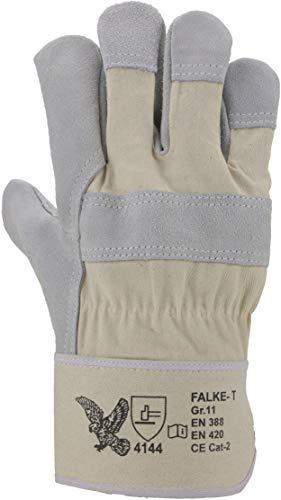 ASATEX Rindspaltleder-Handschuh FALKE-T, naturfarben, Gr. 11 (12 Paar)
