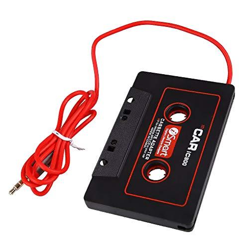 PRENKIN Cassette del Coche Adaptador de 3,5 mm AUX AUX Adaptador de Cassette de Coche Conector Macho Cinta de Casete Converter para Reproductor de CD MP3
