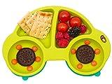 Qshare - Platos de silicona para bebé, una pieza, para bebés y niños, portátil, sin BPA,...