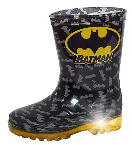 DC Comics Boys Batman Light Up Wellington Boots Black 10 UK Child