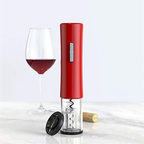 WHBGKJ Sacacorchos eléctrico Sacacorchos automático inalámbrico abridor de botellas de vino fácil de abrir accesorios de cocina Gadgets abridor de botellas (color: 01 rojo)